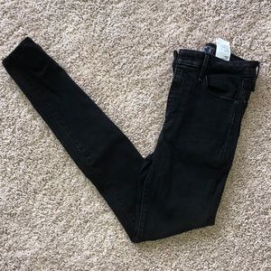 Abercrombie High Waisted Black Jeggings